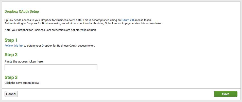 Splunk App For Dropbox For Business Splunkbase