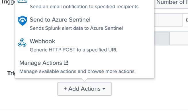 Figure 3. Sending alert to Azure Sentinel