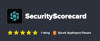 SecurityScorecard Splunk app Certified