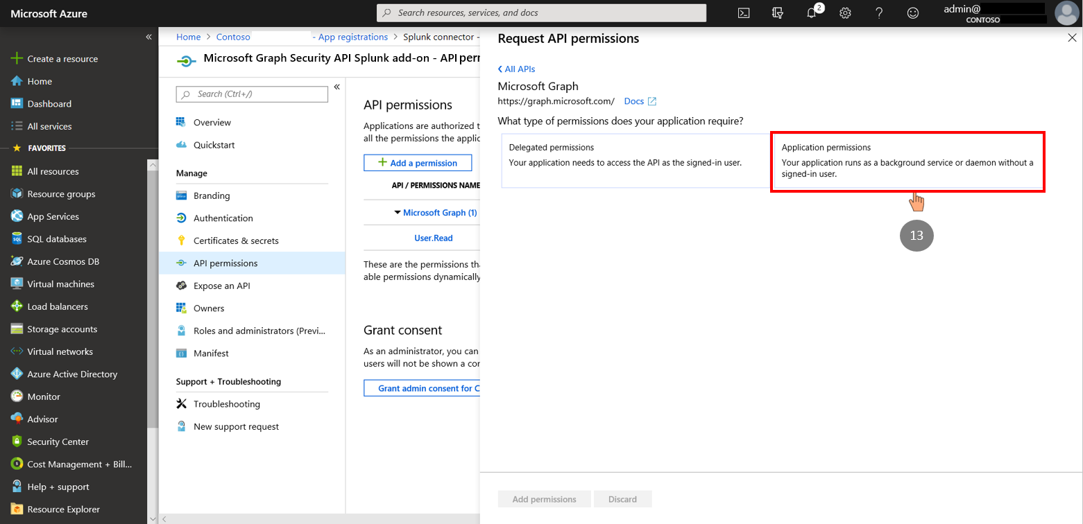 Figure 5. Application Auth mode (permissions)
