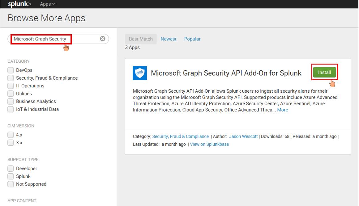 Microsoft Graph Security API Add-On for Splunk | Splunkbase